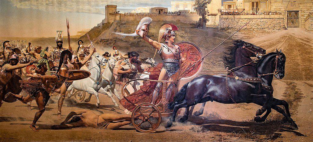 El triunfo de Aquiles, de  Franz von Matsch.