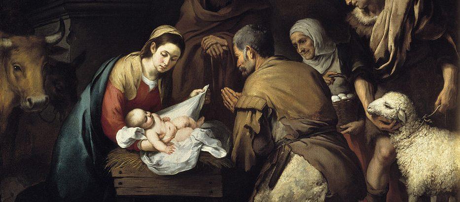 Los años perdidos de Jesús. La adoración de los pastores, de Bartolomé Esteban Murillo.