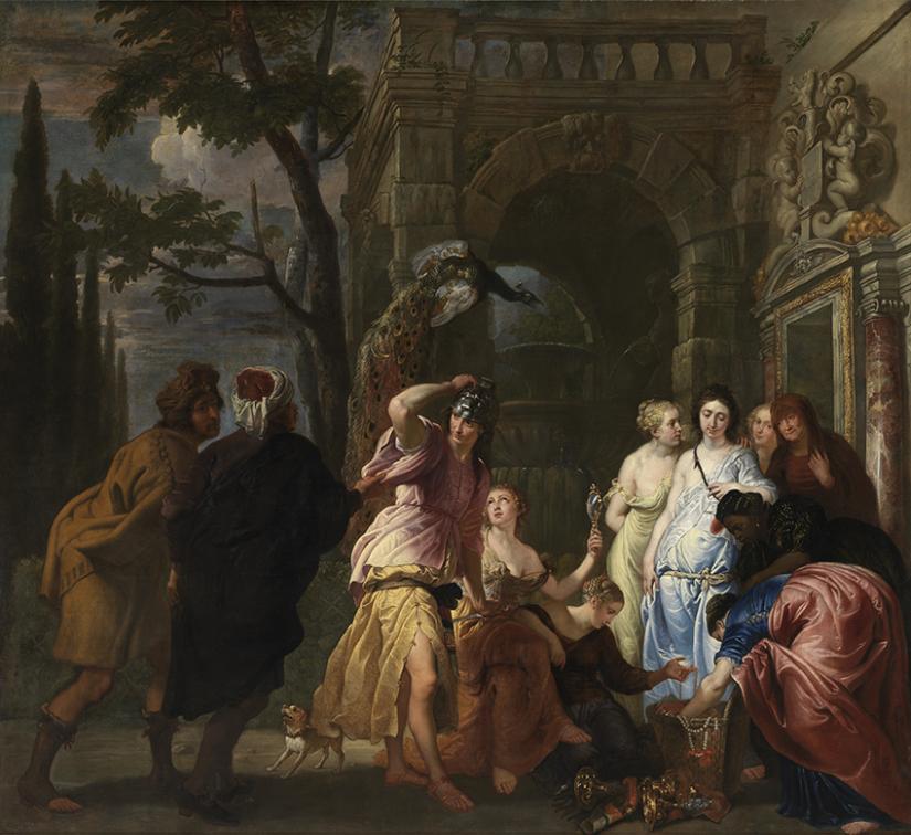 Aquiles en la corte del rey Licomedes.
