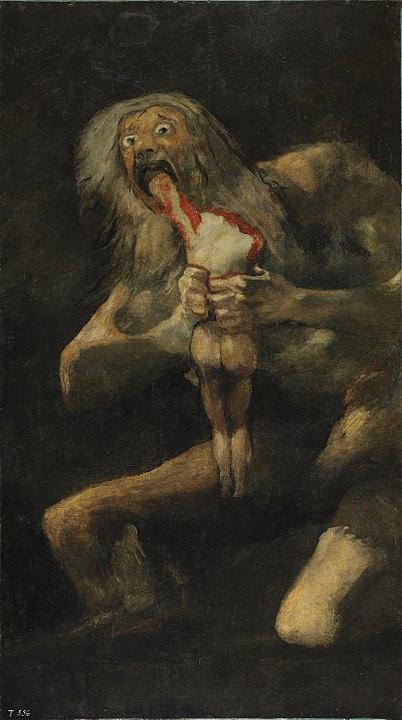 Saturno devorando a un hijo. Zeus y la conquista del Olimpo
